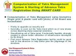 computerization of yatra management system starting of advance yatra registration using smart card