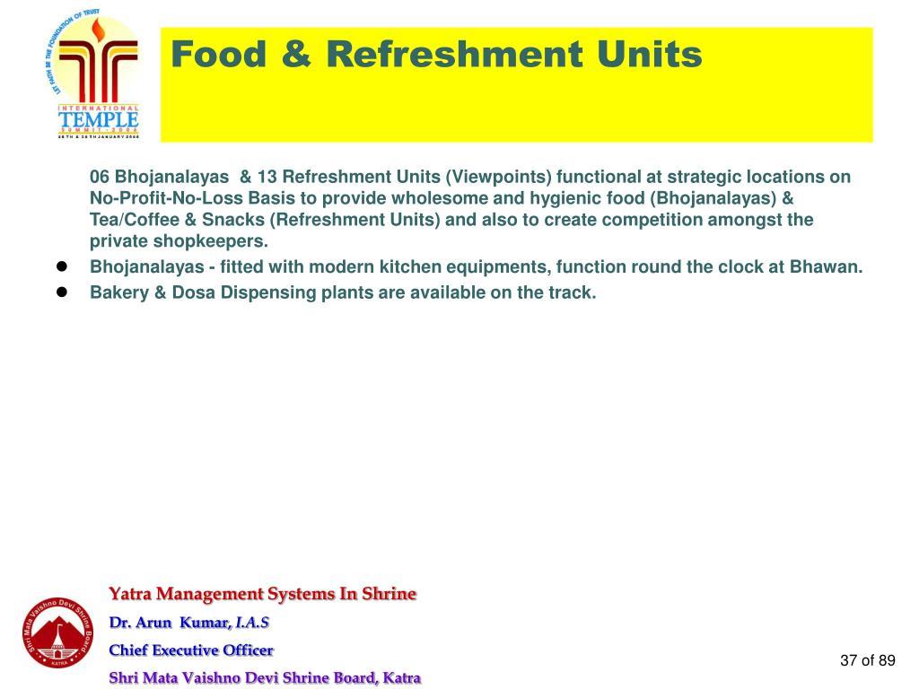 Food & Refreshment Units