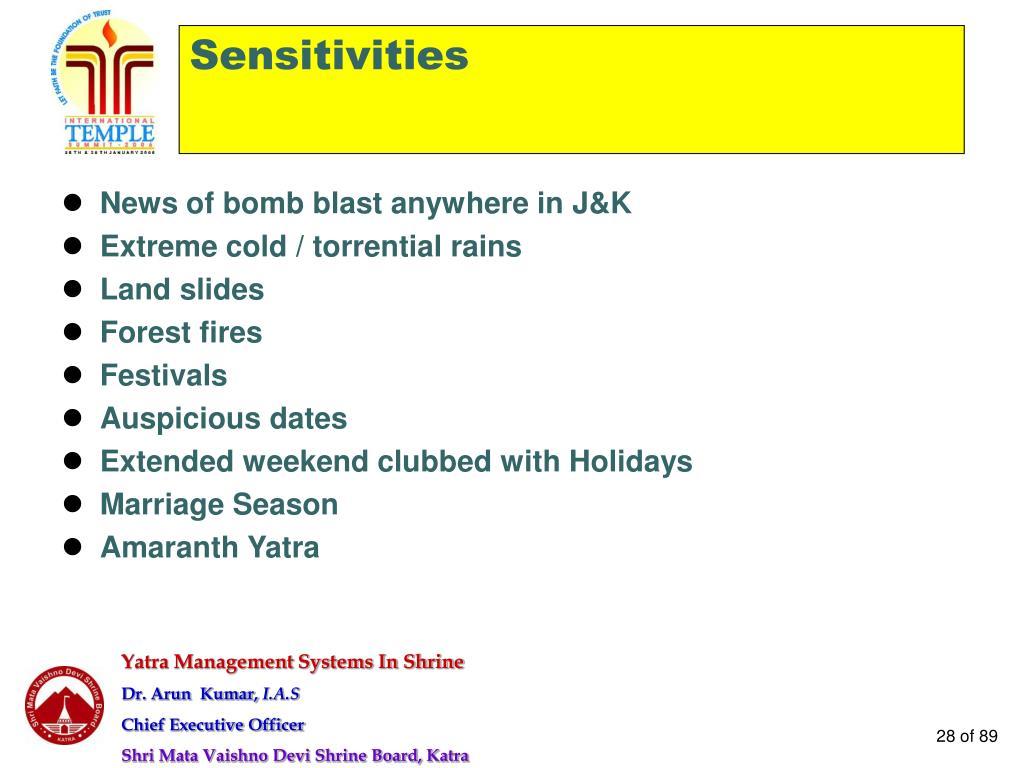 News of bomb blast anywhere in J&K