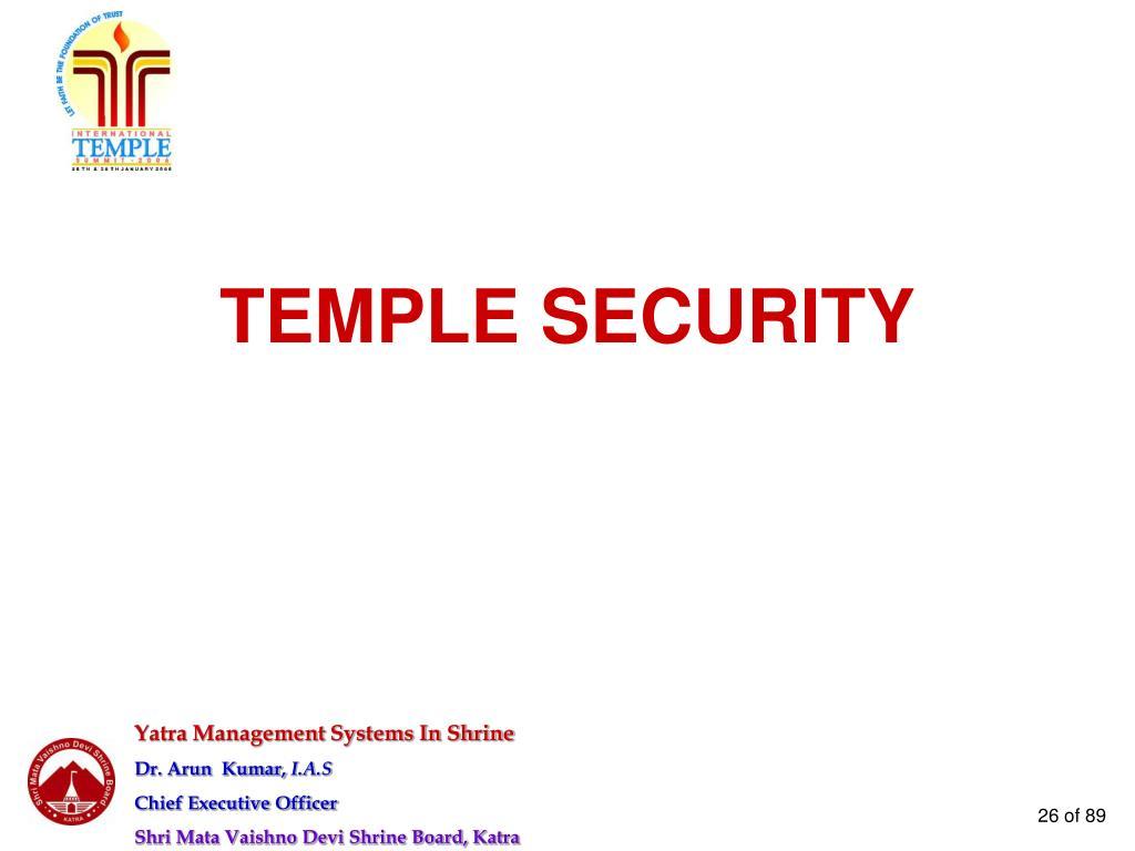 TEMPLE SECURITY