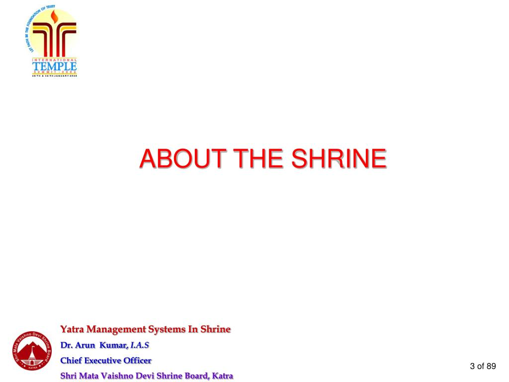 ABOUT THE SHRINE