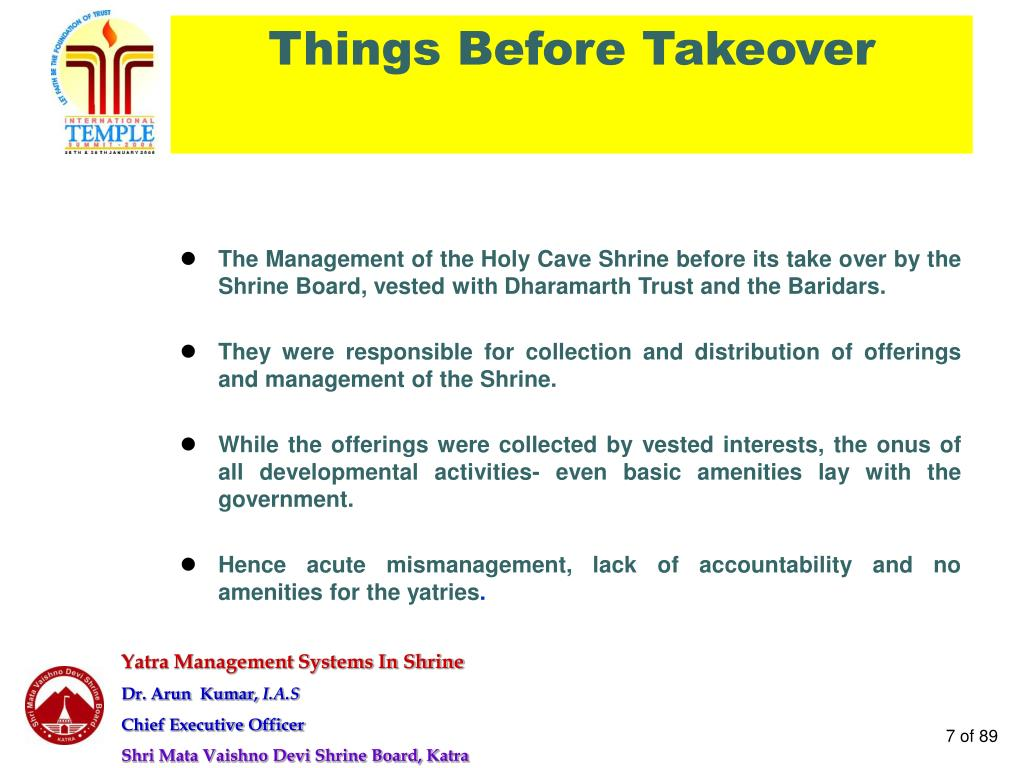 Things Before Takeover