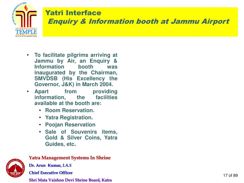 Yatri Interface