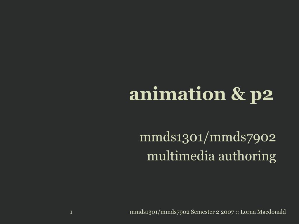 animation & p2