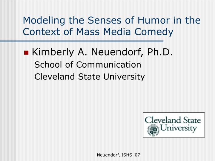Modeling the senses of humor in the context of mass media comedy