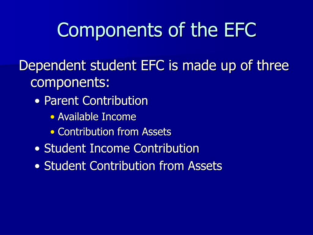 Components of the EFC