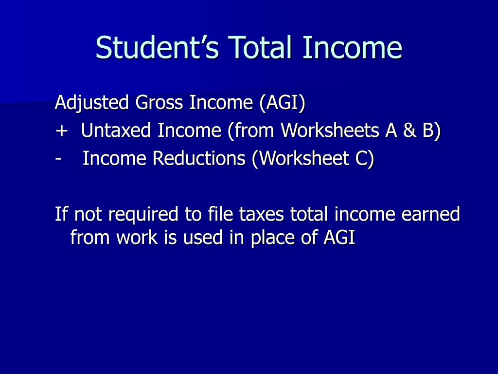 Student's Total Income