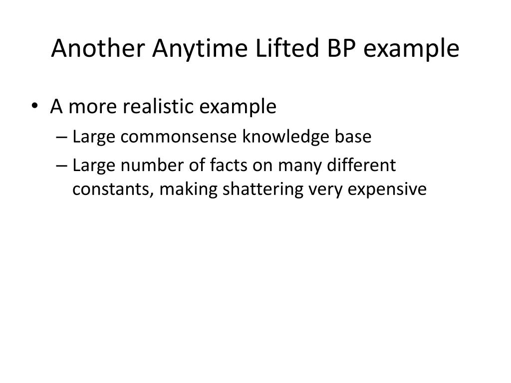 Another Anytime Lifted BP example