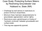 case study protecting surface waters by restricting groundwater use hubbard vs state wa