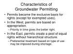 characteristics of groundwater permitting