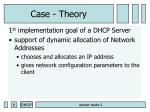 case theory
