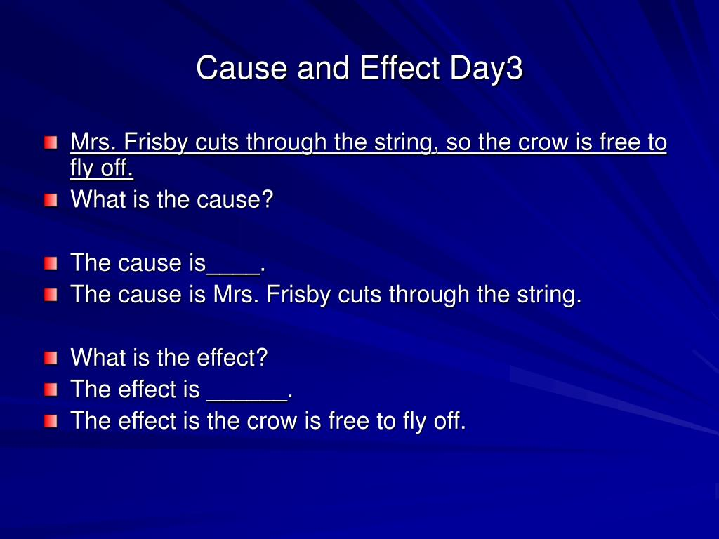 Cause and Effect Day3