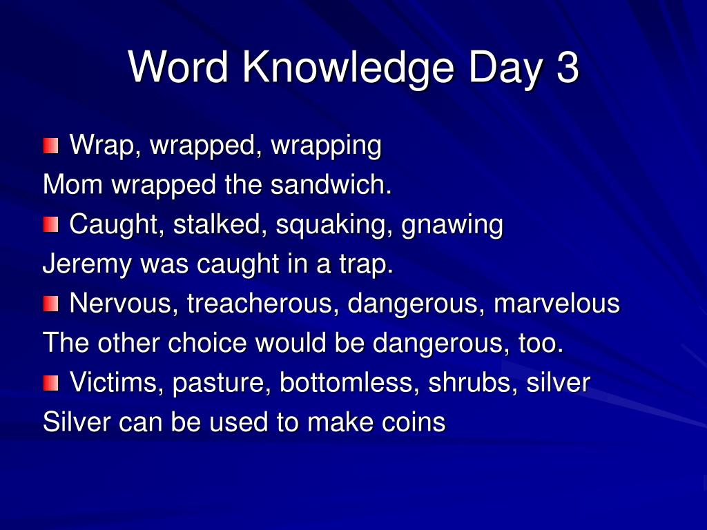 Word Knowledge Day 3