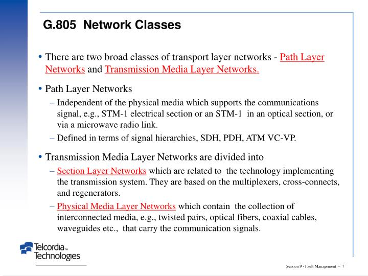 G.805  Network Classes