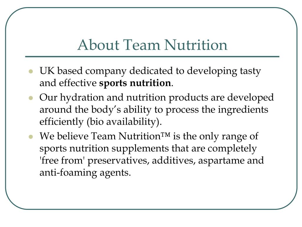About Team Nutrition