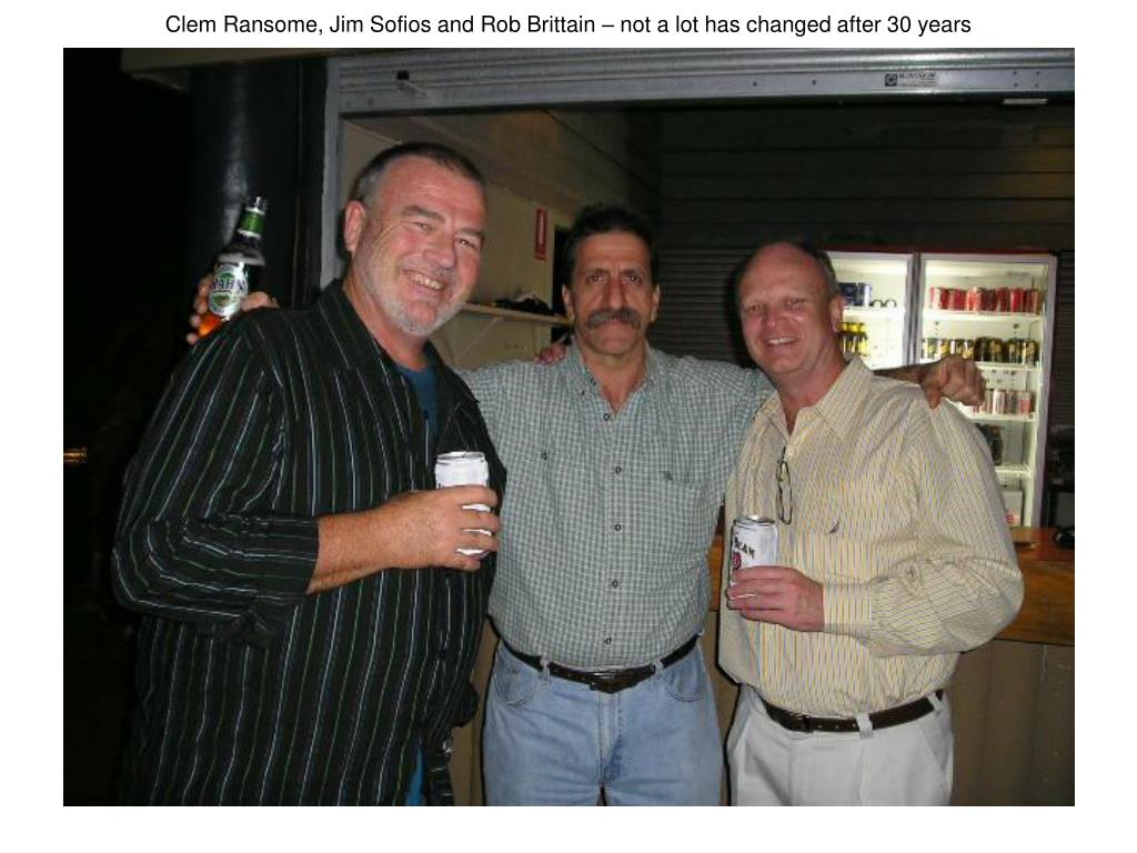 Clem Ransome, Jim Sofios and Rob Brittain – not a lot has changed after 30 years