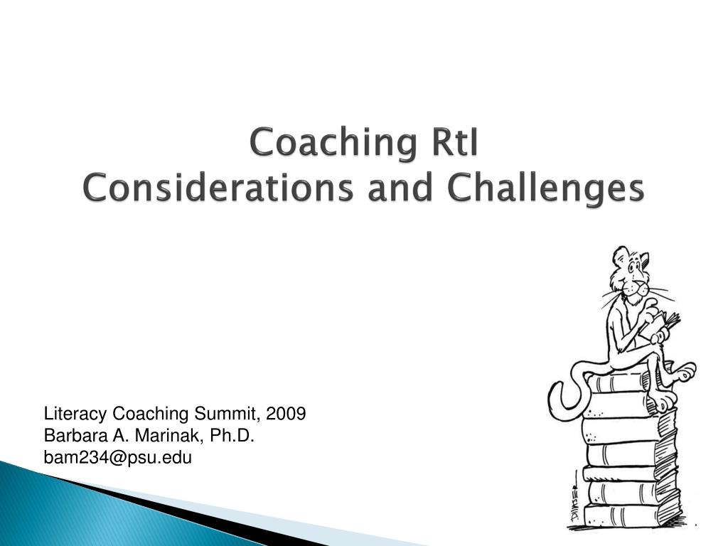 coaching rti considerations and challenges