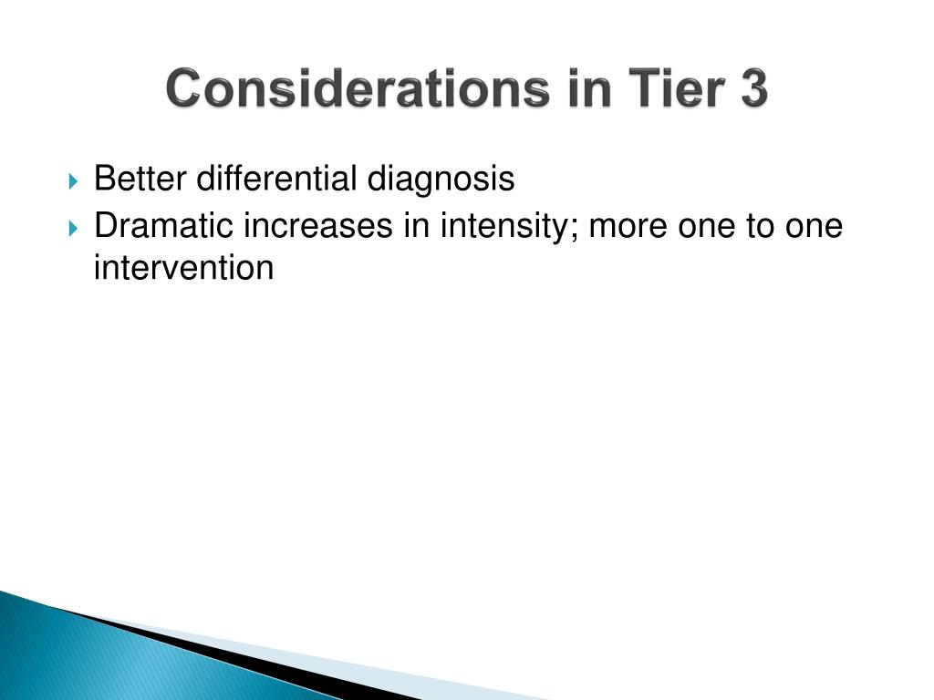 Considerations in Tier 3