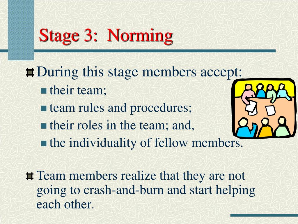 Stage 3:  Norming