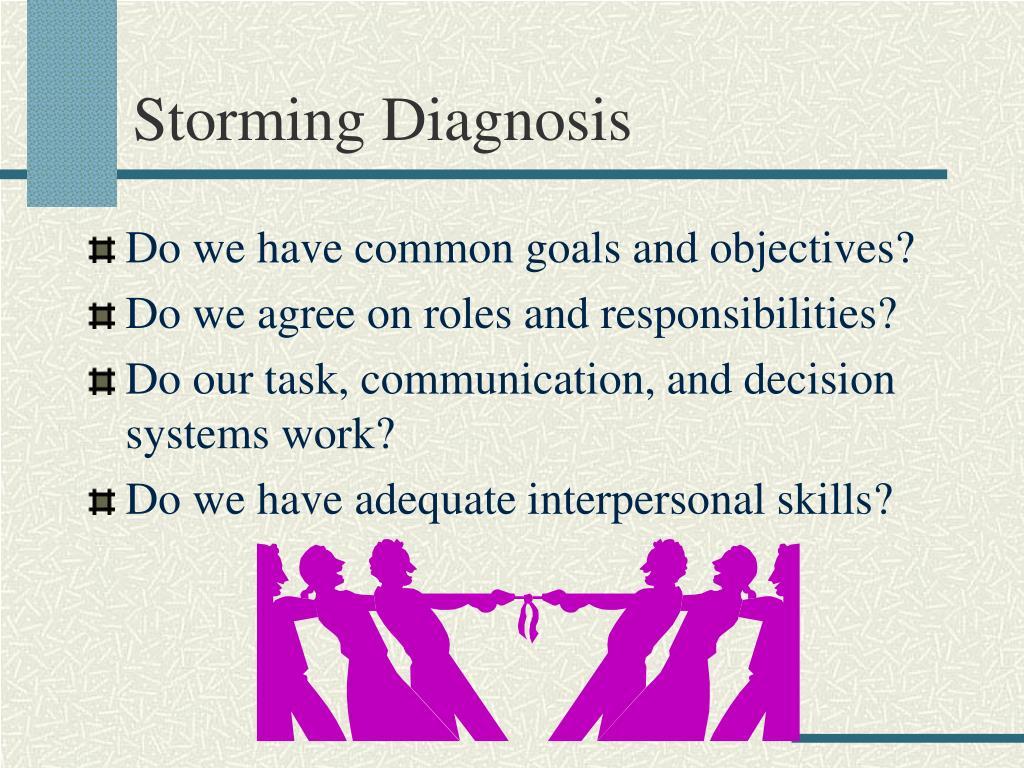 Storming Diagnosis