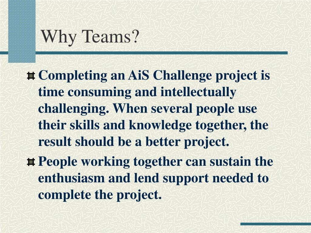 Why Teams?