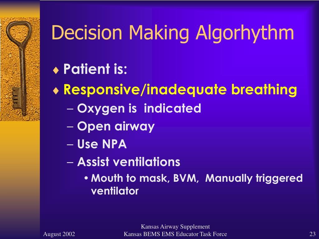 Decision Making Algorhythm