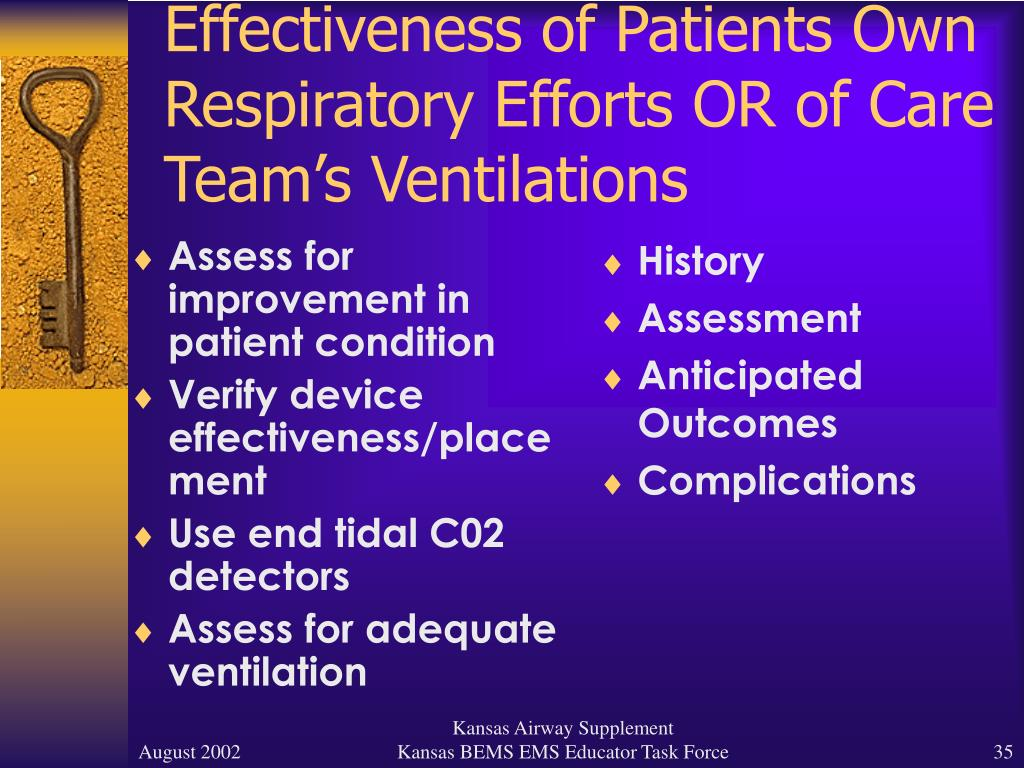 Assess for improvement in patient condition