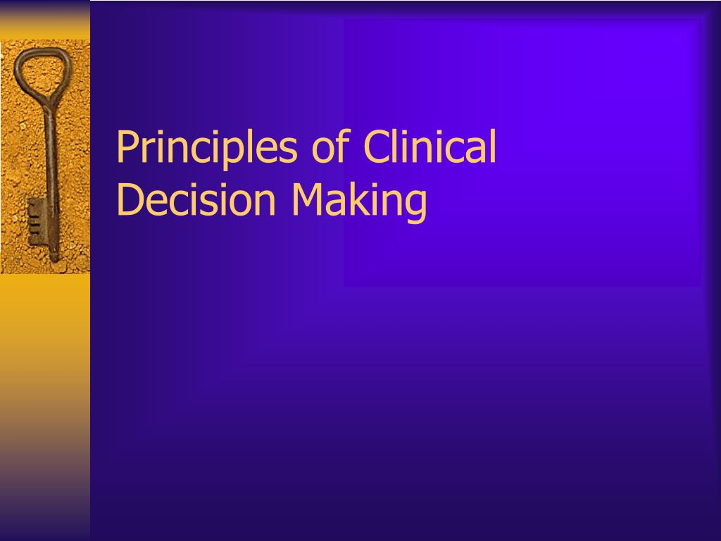 Principles of Clinical