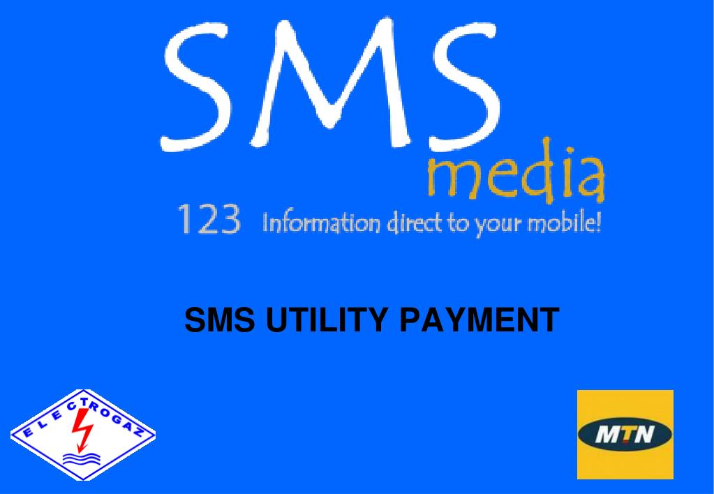 sms utility payment