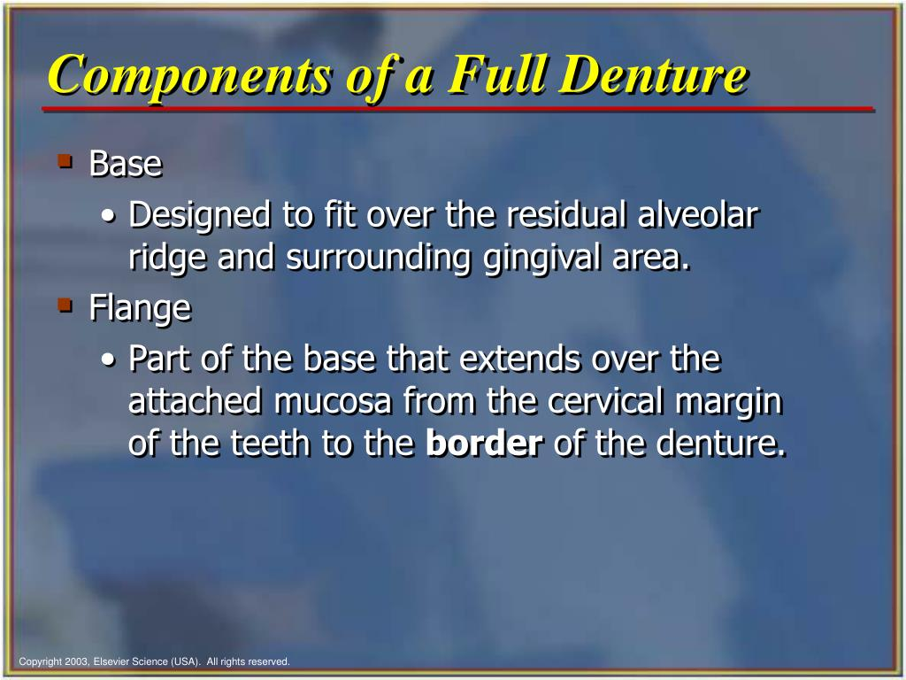 Components of a Full Denture