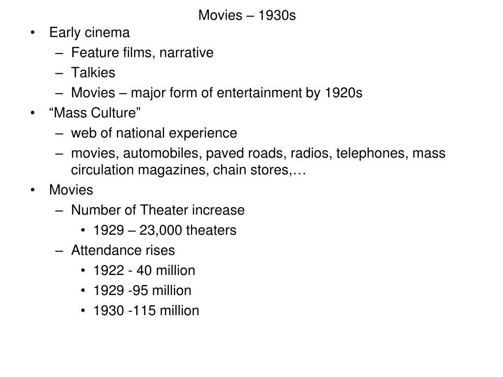 Movies – 1930s