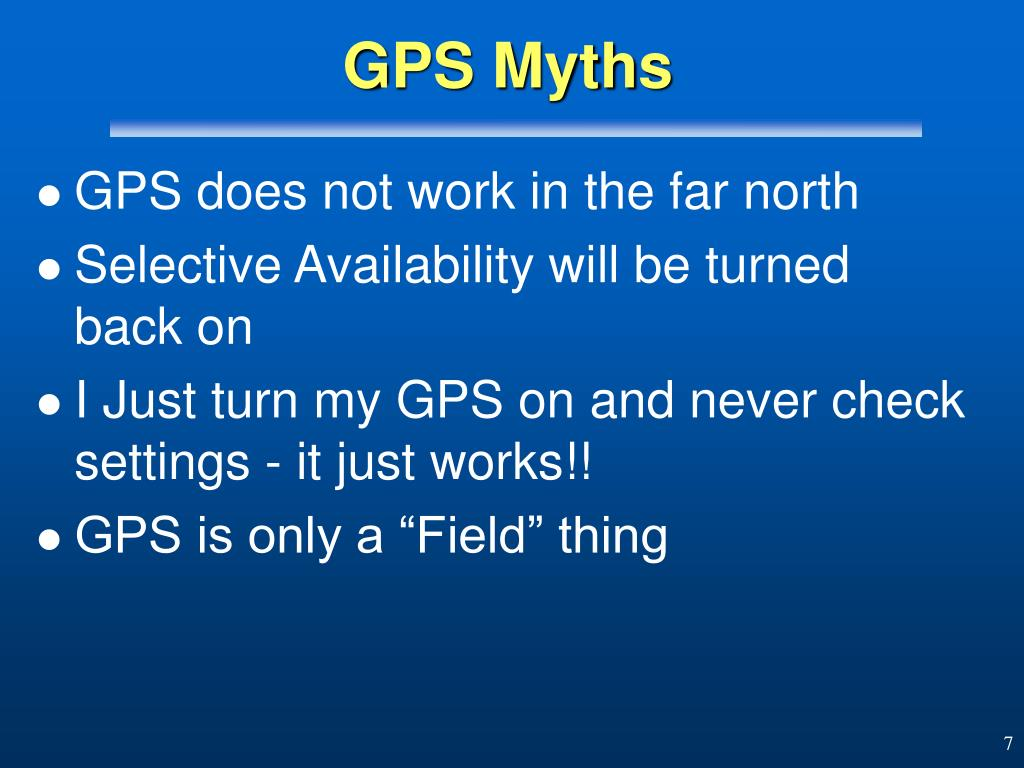 GPS Myths