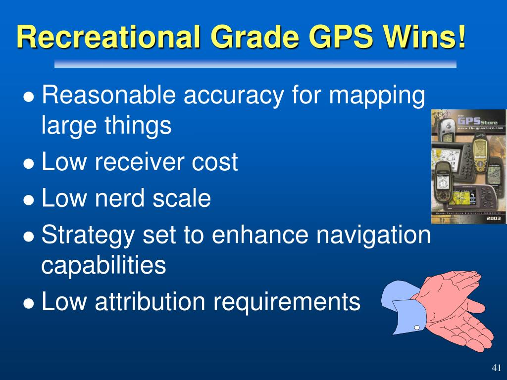 Recreational Grade GPS Wins!