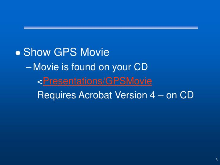 Show GPS Movie