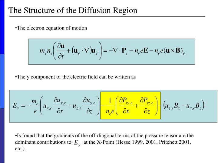 The structure of the diffusion region