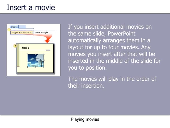Insert a movie