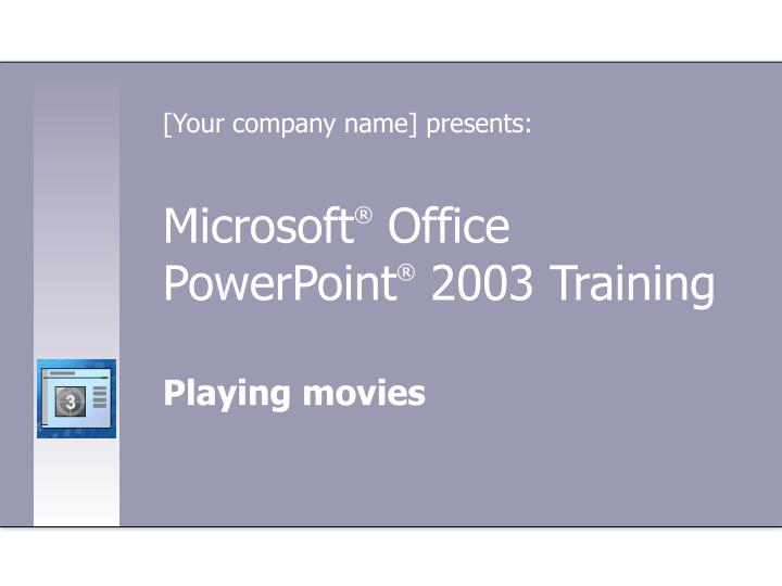 [Your company name] presents: