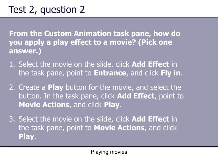 Test 2, question 2