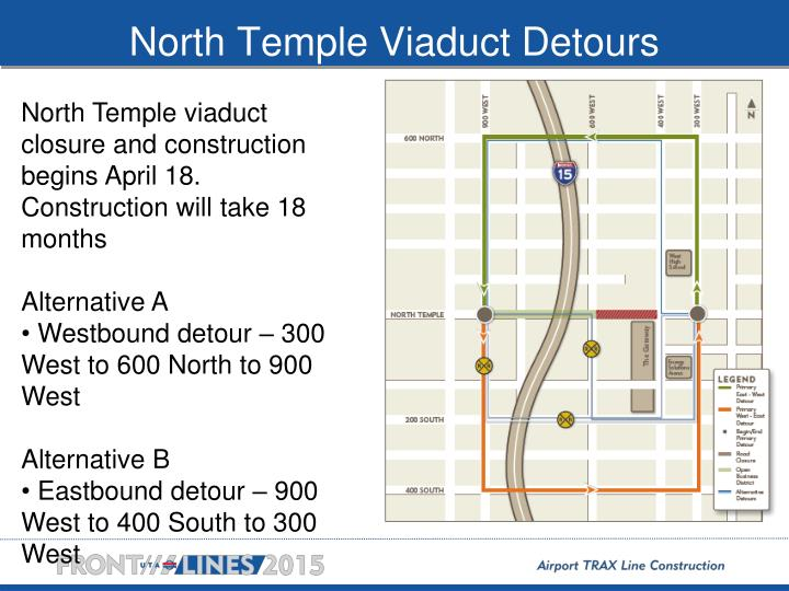 North temple viaduct detours