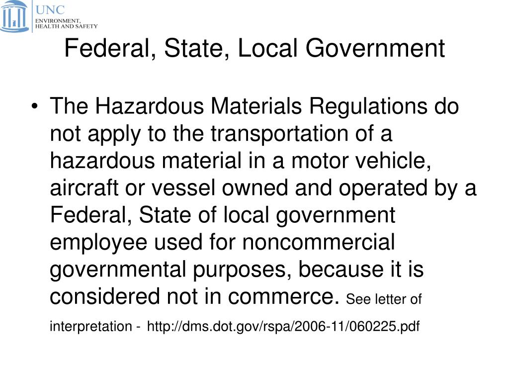 Federal, State, Local Government