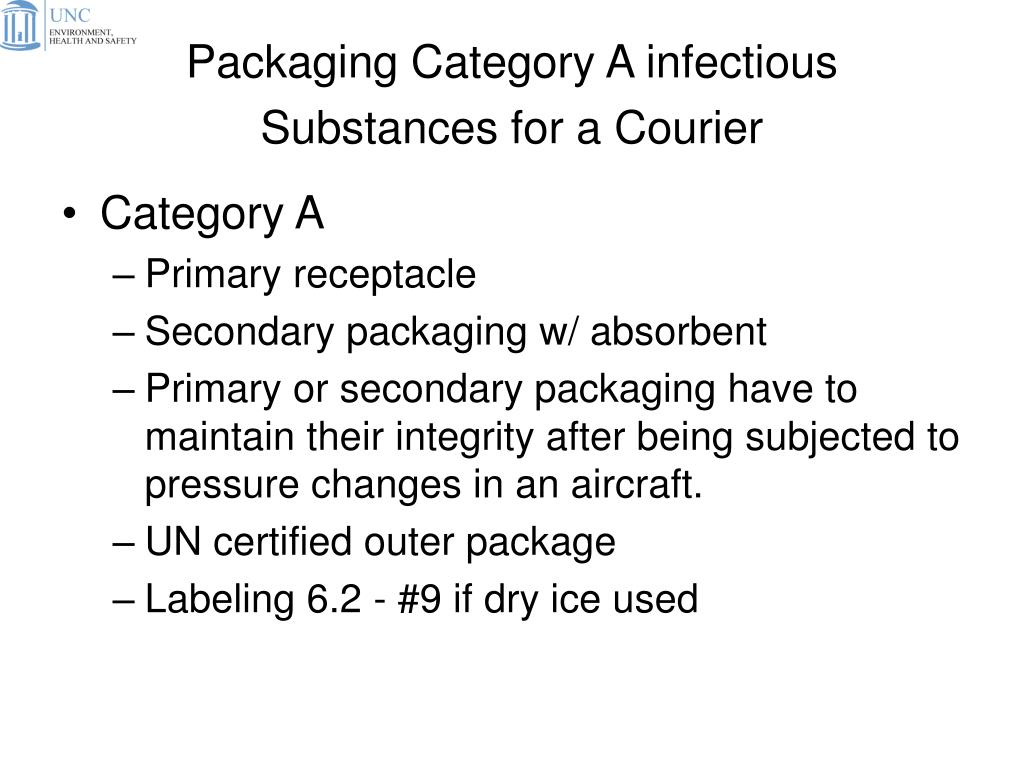 Packaging Category A infectious Substances for a Courier