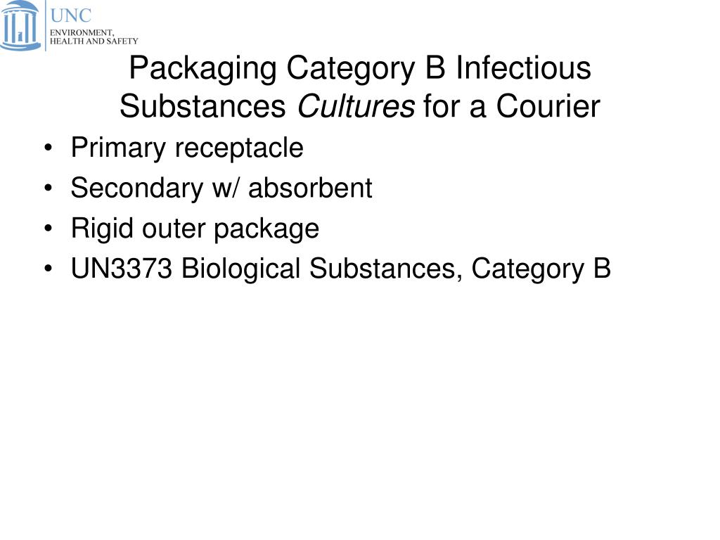 Packaging Category B Infectious Substances