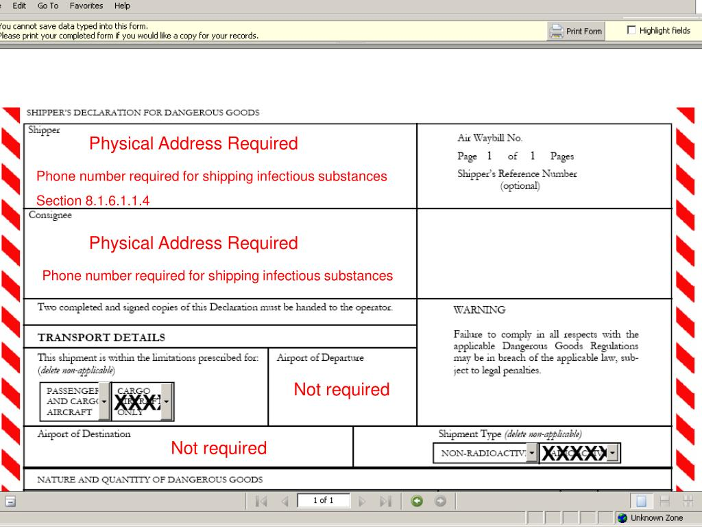 Physical Address Required