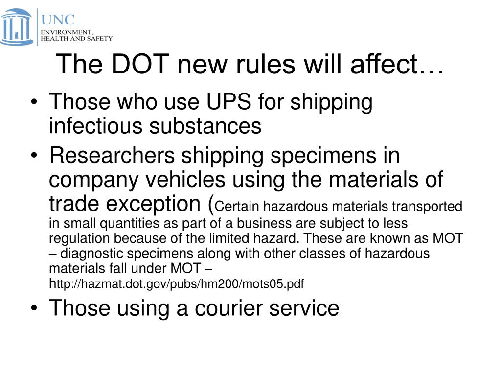 The DOT new rules will affect…