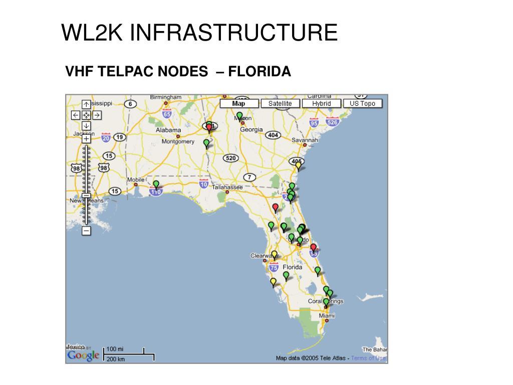 VHF TELPAC NODES  – FLORIDA