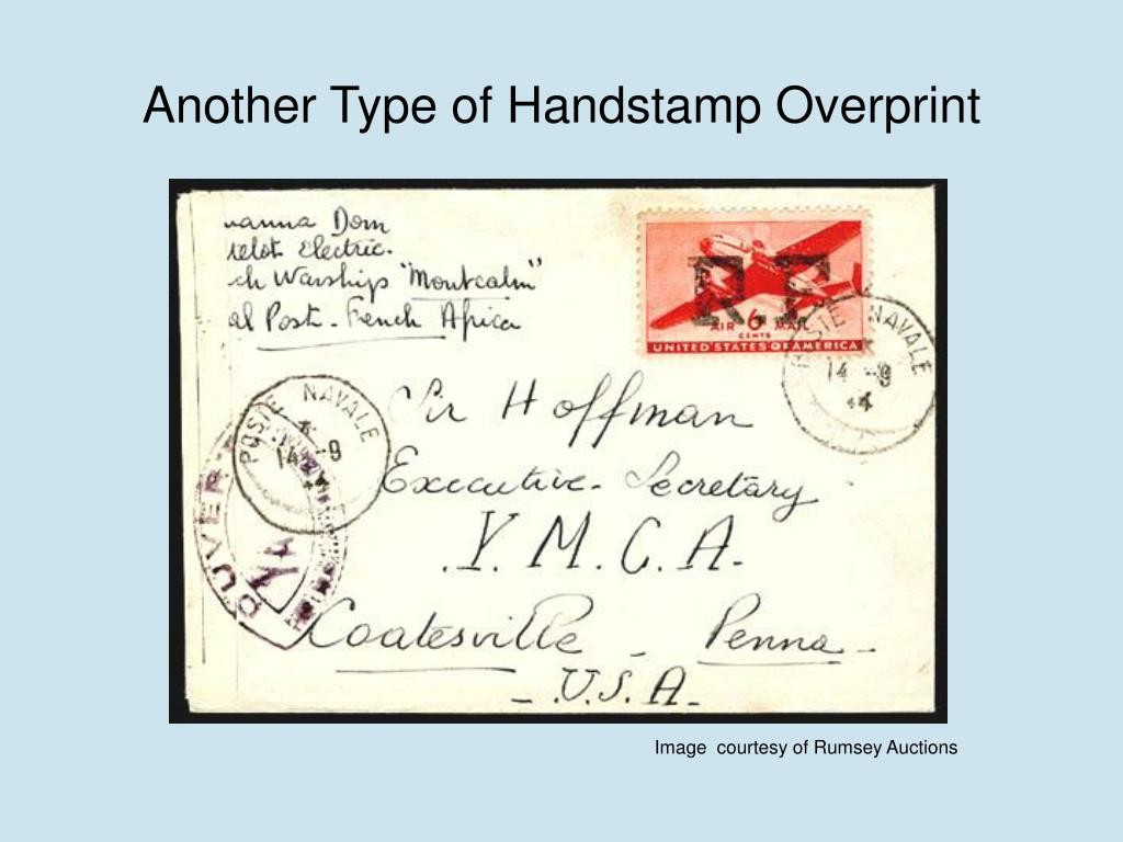 Another Type of Handstamp Overprint