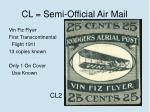 cl semi official air mail