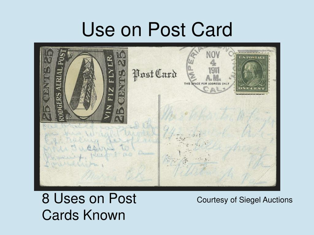 Use on Post Card
