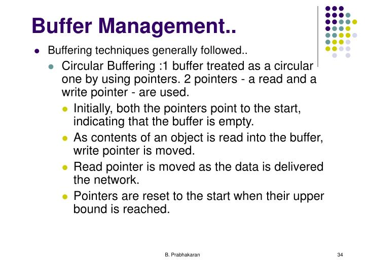 Buffer Management..