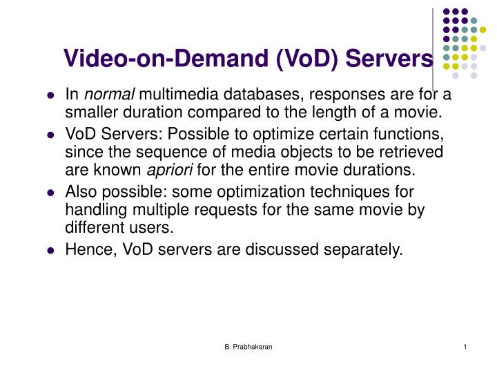 Video on demand vod servers